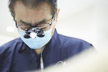 歯科用拡大鏡の使用